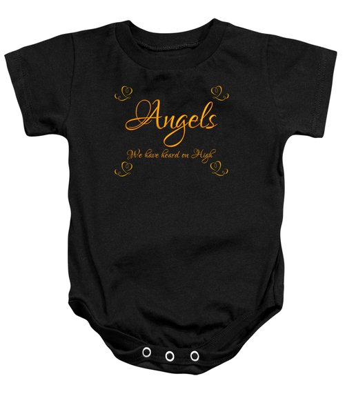 Golden Angels We Have Heard On High With Hearts Baby Onesie