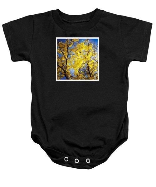 Golden October Tree In Fall Baby Onesie