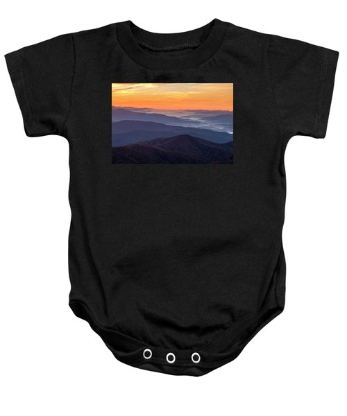 Good Morning Clingmans Dome In The Smokies Baby Onesie