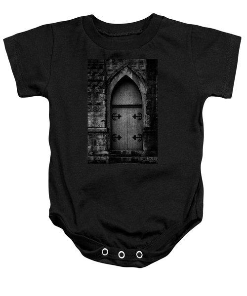 Gothic Door Memphis Church Bw Baby Onesie