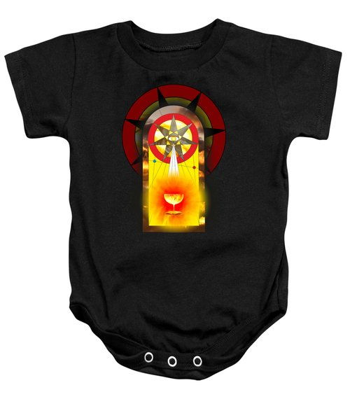 Grail Magic By Pierre Blanchard Baby Onesie by Pierre Blanchard
