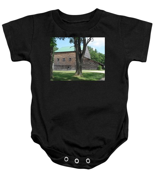 Grammie's Barn Through The Trees Baby Onesie