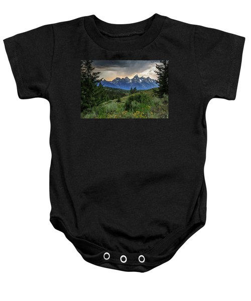 Baby Onesie featuring the photograph Grand Stormy Sunset by David Chandler