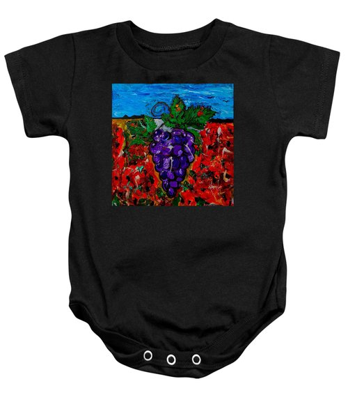 Grape Jazz Baby Onesie
