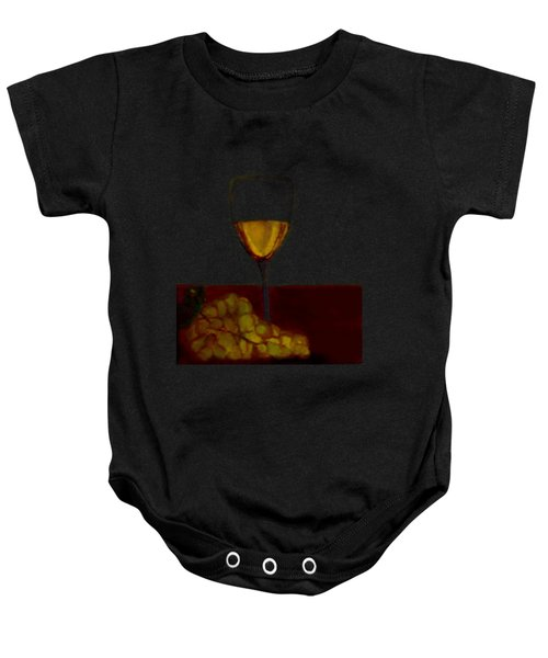Grapes With Wine Baby Onesie