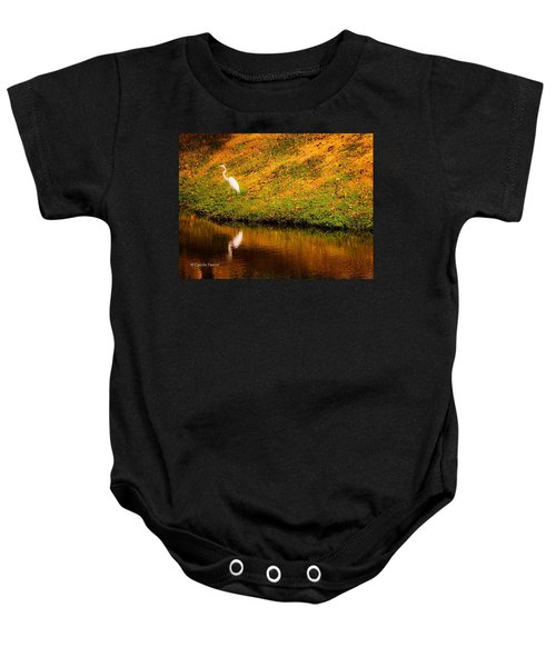 Great Egret At The Lake Baby Onesie