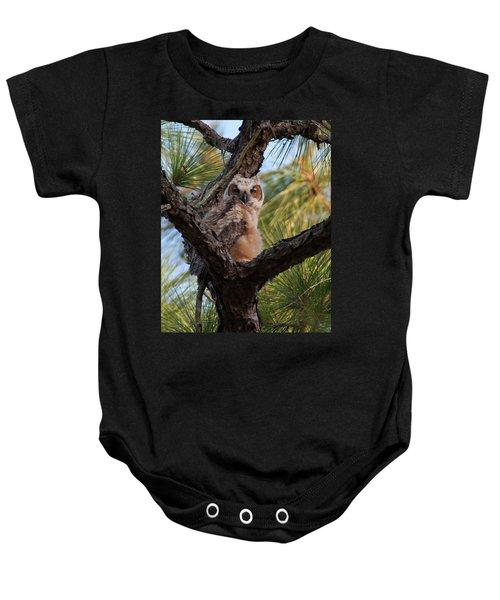 Great Horned Owlet Baby Onesie