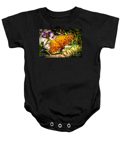 Great Spangled Fritillary Butterfly Baby Onesie