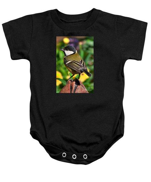 Great Tit British Bird Parus Major Baby Onesie