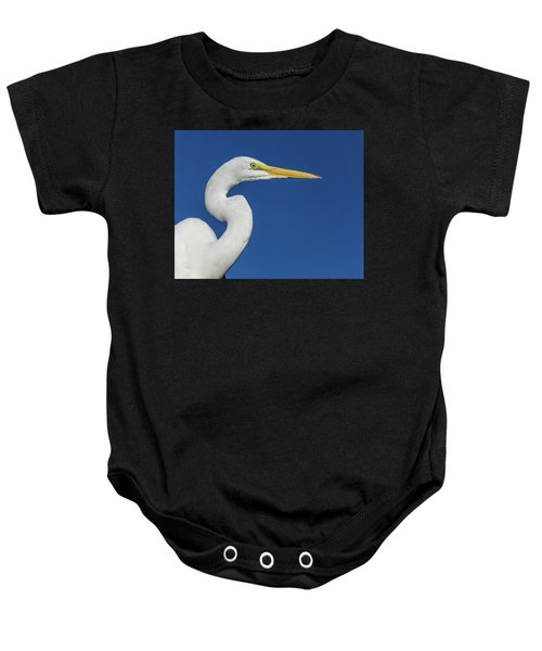 Great White Heron Baby Onesie