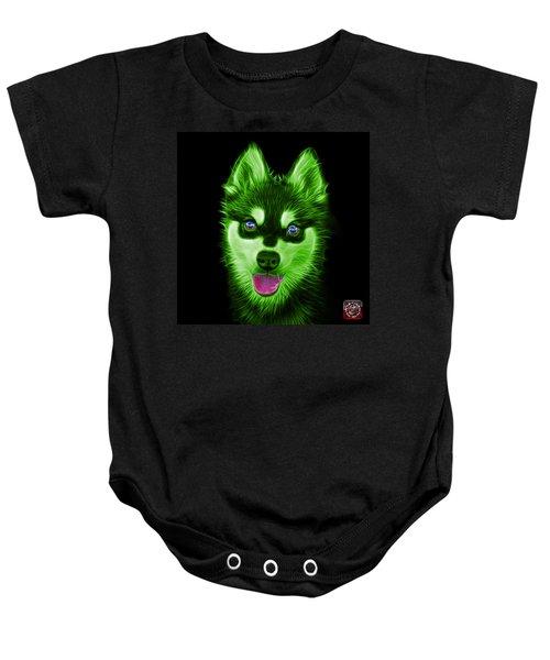 Green Alaskan Klee Kai - 6029 -bb Baby Onesie