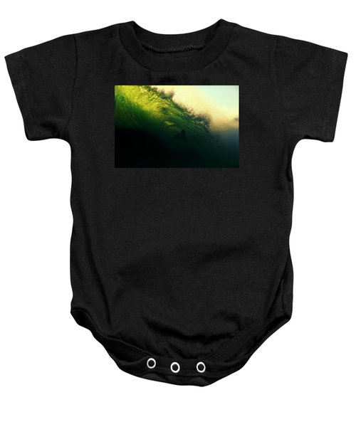 Green And Black Baby Onesie