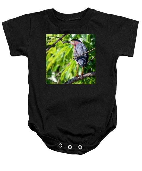 Green Heron Baby Onesie