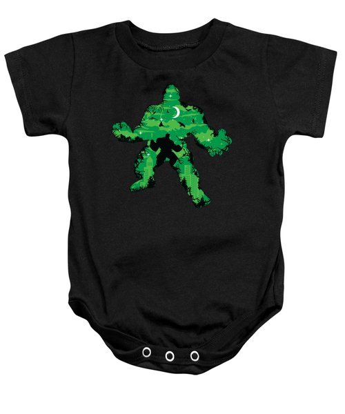 Green Monster Baby Onesie