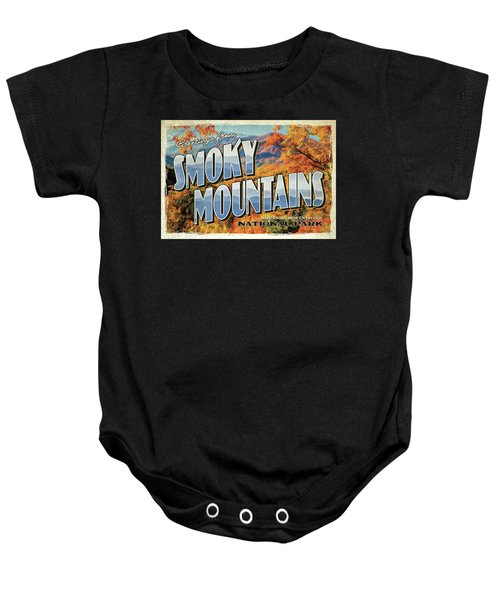 Greetings From Smoky Mountains National Park Baby Onesie