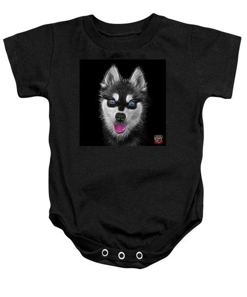 Greyscale Alaskan Klee Kai - 6029 -bb Baby Onesie