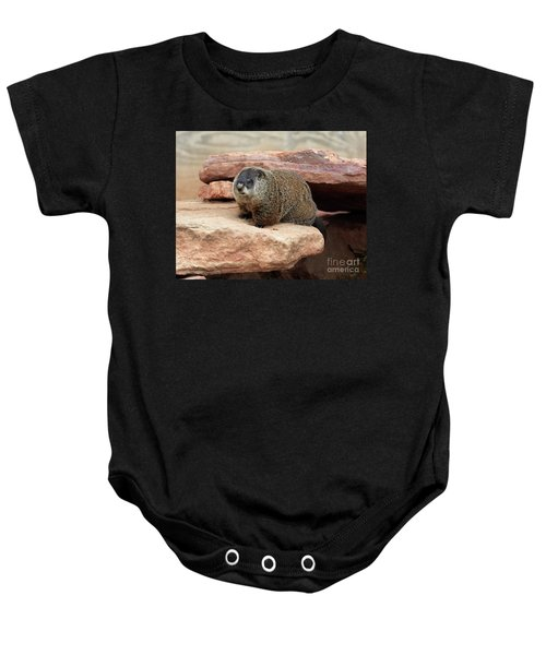 Groundhog Baby Onesie by Louise Heusinkveld