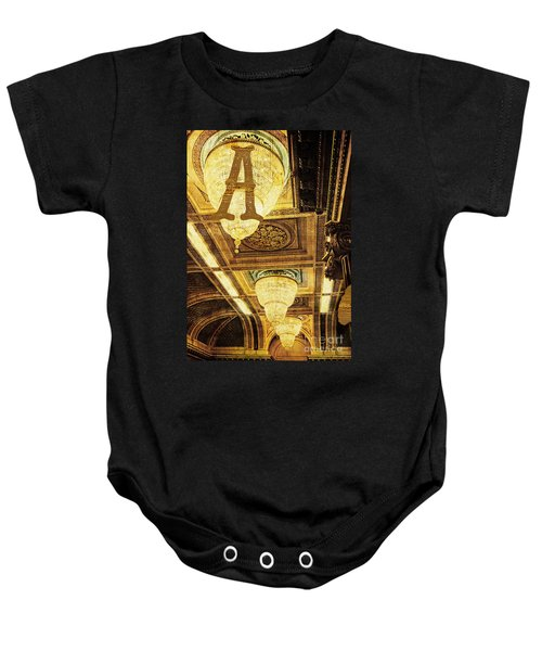 Grungy Melbourne Australia Alphabet Series Letter A Assembly Cha Baby Onesie