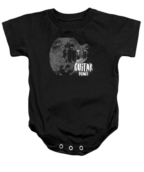 Baby Onesie featuring the photograph Guitar Planet  by Guitar Wacky
