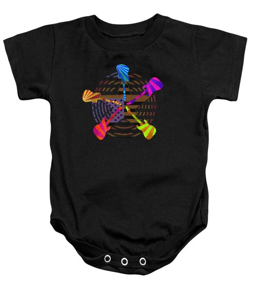 Baby Onesie featuring the digital art Guitars Stars And Stripes  by Guitar Wacky