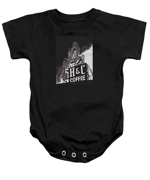 H And C Coffee Sign Baby Onesie