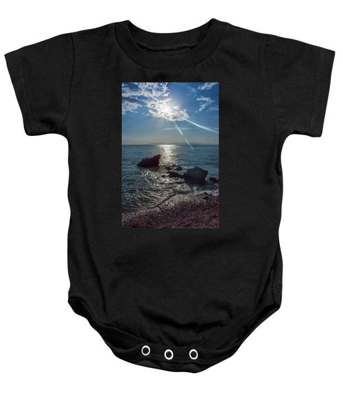 Haitian Beach In The Late Afternoon Baby Onesie