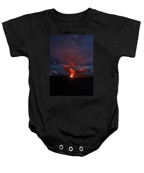 Halemaumau Crater At Night Baby Onesie