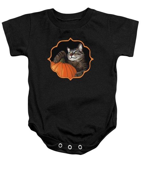 Halloween Cat Baby Onesie by Anastasiya Malakhova