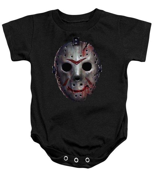 Happy Friday Mask Baby Onesie