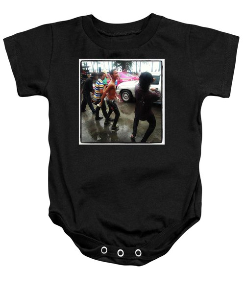 Baby Onesie featuring the photograph Happy Songkran. The Water Splashing by Mr Photojimsf