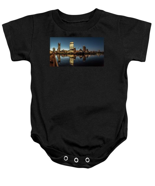 Baby Onesie featuring the photograph Harbor House View by Randy Scherkenbach