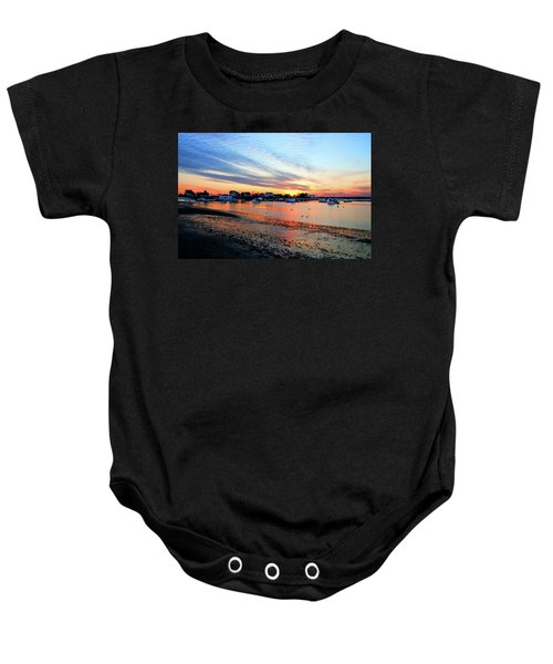 Harbor Sunset At Low Tide Baby Onesie