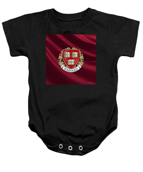 Harvard University Seal Over Colors Baby Onesie