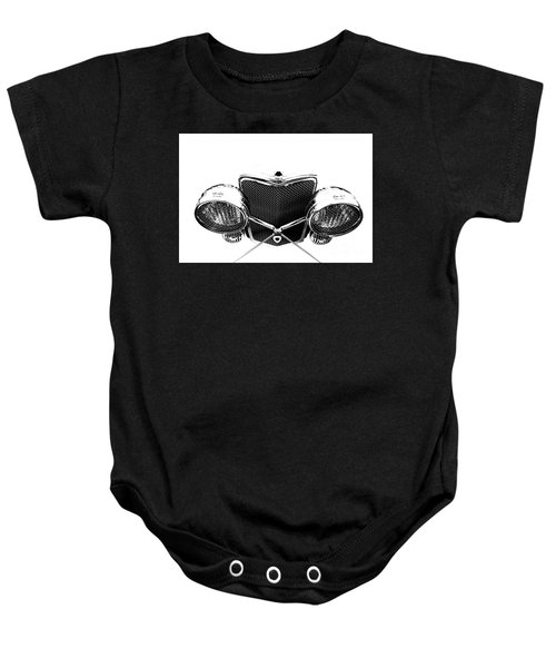 Baby Onesie featuring the photograph Headlights by Stephen Mitchell