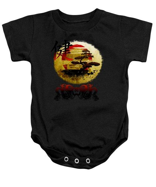Health Oriental Symbol Baby Onesie