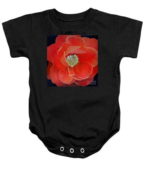 Heart-centered Rose Baby Onesie