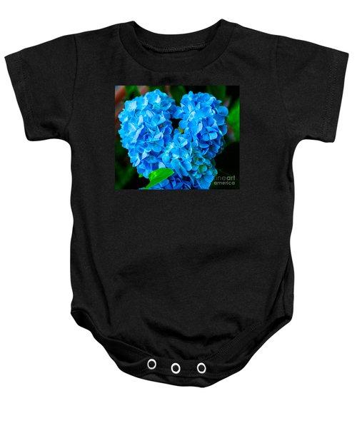 Heart Of Blue Baby Onesie