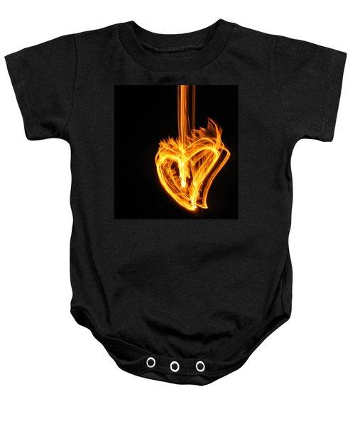 Hearts Aflame -falling In Love Baby Onesie