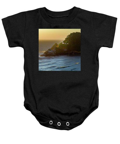 Heceta Head Lighthouse At Sunset Baby Onesie
