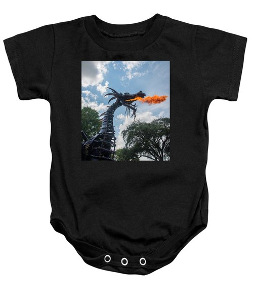 Here There Be Dragons Baby Onesie