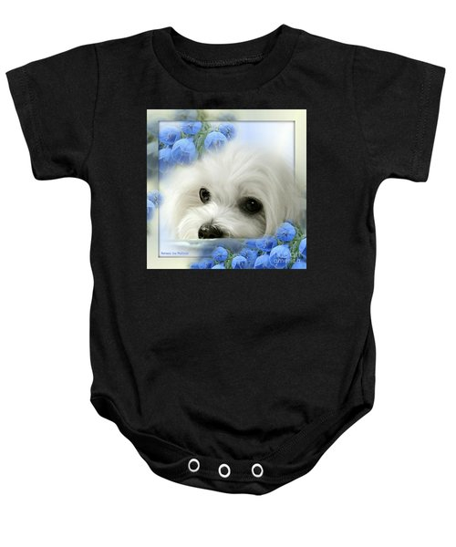 Baby Onesie featuring the mixed media Hermes In Blue by Morag Bates