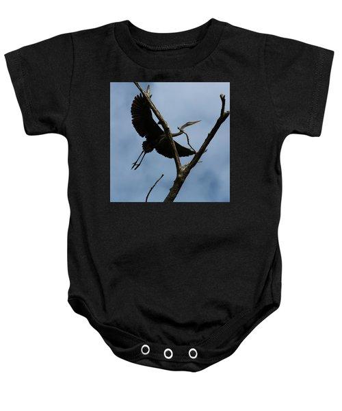 Heron Flight Baby Onesie