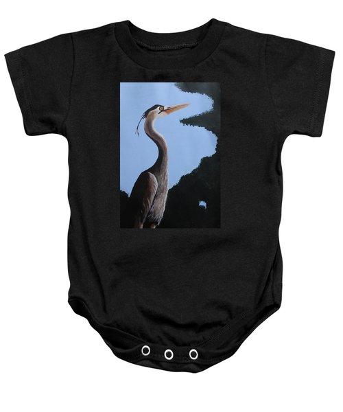 Heron In The Trees Baby Onesie