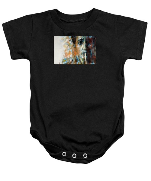 Hey Mr Tambourine Man @ Full Composition Baby Onesie by Paul Lovering