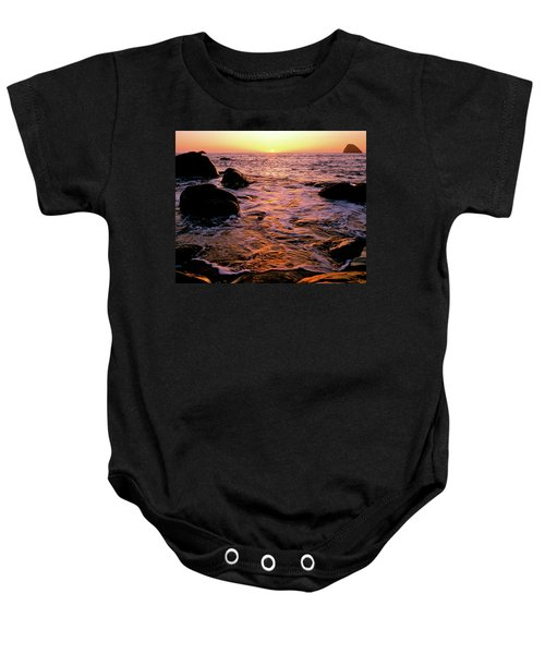 Hidden Cove Sunset Redwood National Park Baby Onesie