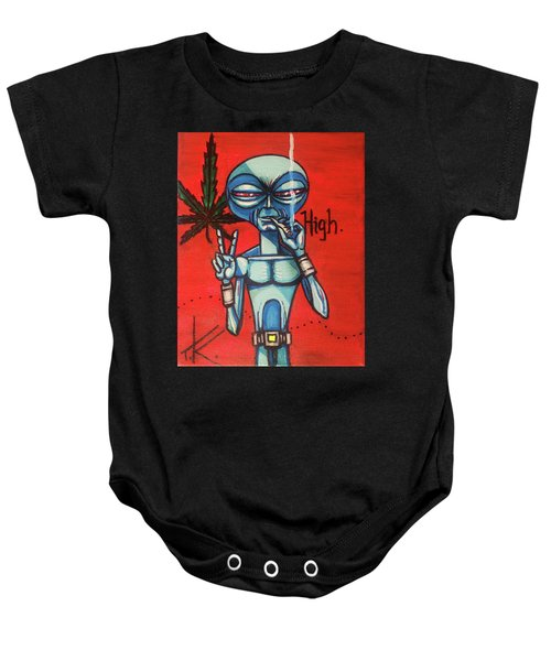 High Alien Baby Onesie