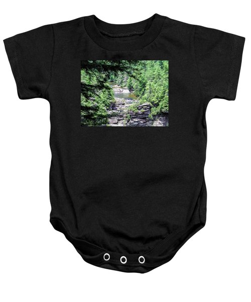 High View Of The Falls Baby Onesie