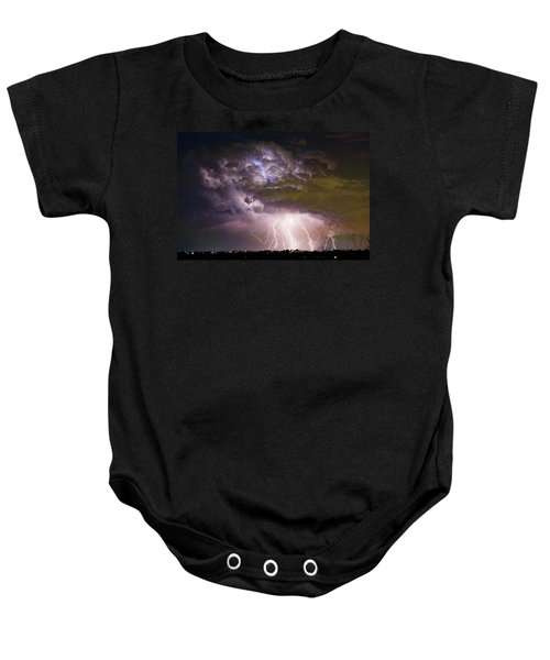 Highway 52 Storm Cell - Two And Half Minutes Lightning Strikes Baby Onesie