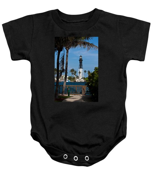 Hillsboro Inlet Lighthouse And Park Baby Onesie