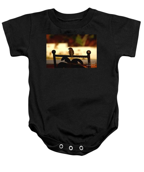 His Eye Is On The Sparrow Baby Onesie